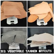 1kg coloured natural veg tan leather