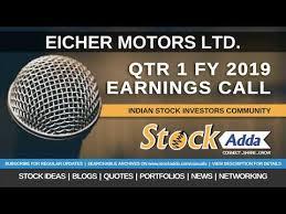 eicher motors ltd investors conference