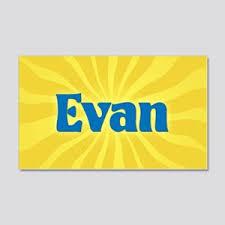 Boy Name Evan Wall Art Cafepress