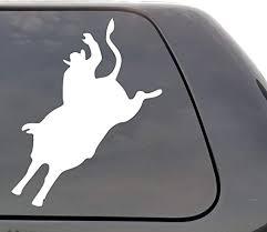 Amazon Com Cowboy Bull Riding Vinyl Decal Bull Rider Rodeo Event Bucking Bull Wall Window Door Car Truck Home Kitchen