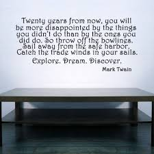 Inspirational Mark Twain Quote Decal Vinyl Sticker Wall Decor Vinylwallaccents On Artfire