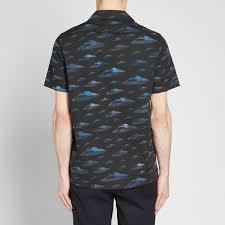 Paul Smith UFO Motel Print Vacation Shirt Navy | END.