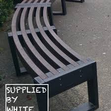recycled plastic curved bench