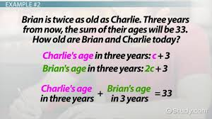 using equations to solve age problems