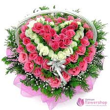 heart flowers with love beautiful in