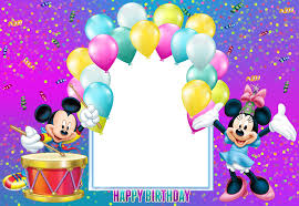 Happy Birthday Mickey Mouse Transparent Kids Frame