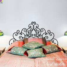 60 Formidable Headboard Wall Decal Design Queen White Faux Fake Sticker Vamosrayos