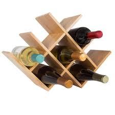 tabletop free standing bamboo wine rack