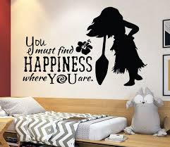 Disney Wall Decal Moana Wall Decal Decor Disney Movie Quote Etsy