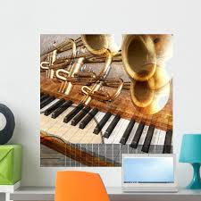 Abstract Musical Guitar Trumpet Wall Mural By Wallmonkeys Peel And Stick Graphic 24 In H X 24 In W Wm2819 Walmart Com Walmart Com