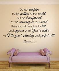 Romans 12 2 Scripture Bible Verse Wall Decal Nuovocreations