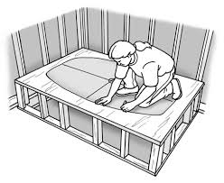 how to build a platform for a bathtub
