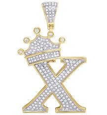 round diamond crown initial letter
