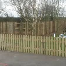 Picket Fence Panel Round Top Pressure Treated Free Delivery Available