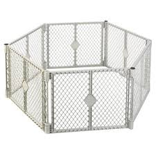 8666 Grey 6 Panel Play Gate Walmart Com Walmart Com