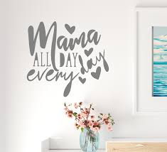 Vinyl Wall Decal Words Mama Mother Love Family Gift Parents Stickers M Wallstickers4you
