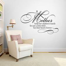 A Mother Holds Her Children S Hands Wall Decals Wall Decals Wall Quotes Decals Kids Hands