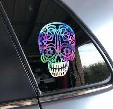 Tribal Skull Candy Skull Car Window Decal Sticker Etsy
