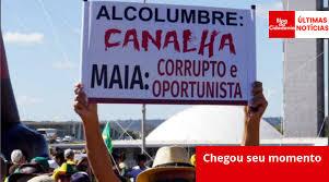 Resultado de imagem para maia a alcolumbre charges