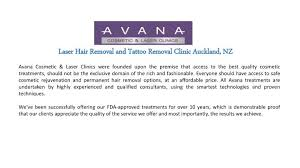 laser hair removal and tattoo removal