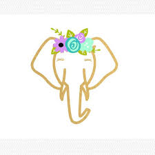 This Is Adorable Floral Elephant Vinyl Decal Pretty Elephant Decal Car Decal Yeti Decal Cute Decal Anima Elephant Decal Monogram Decal Yeti Monogram