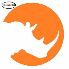 Hotmeini Robust African Wildlife Rhino Car Sticker For Truck Window Bumper Suv Laptop Kayak Car Styling Vinyl Decal 10 Colors Car Sticker Stickers For Truckscar Styling Aliexpress