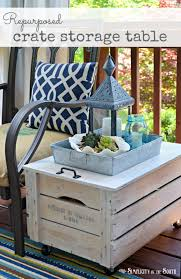 repurpose a wooden crate into a rolling