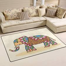 Amazon Com Area Rug Carpet Roma Elephant Rugs Floor Carpet Mat Living Room Carpet For Kids Room Indoor Decor 3 X5 Kitchen Dining