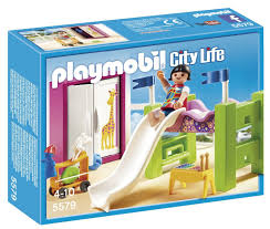 Amazon Com Playmobil Children 39 S Room With Loft Bed Amp Slide Set Toys Amp Games Playmobil Bed With Slide Playmobil Toys