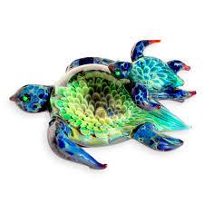 turtle swimming lesson cremains encased