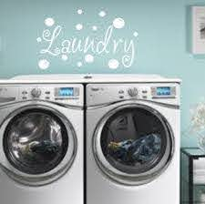 Laundry Bubbles Vinyl Wall Decal Laundry Decal Bathroom Etsy