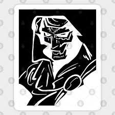 Dr Doom Dr Doom Sticker Teepublic Au