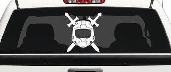 Halo Spartan Video Game Logo Decal Sticker For Car Laptop Wall Room Mymonkeysticker Com