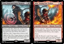 Evo, Veteran Curse Weaver // Ada, Young Fire Stoker : custommagic