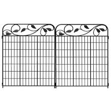 No Dig 47 In X 37 In Powder Coated Steel Fence Panel Lowe S Canada Fence Panels Steel Fence Panels Decorative Fence Panels