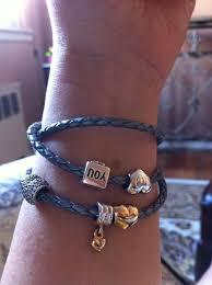 pandora triple leather bracelet brown