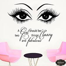 Amazon Com Bestickershop Wall Decal Eyelashes Decal Eyebrows Decal Lashes Decal Beauty Salon Decal Customized Decals 15l Home Kitchen