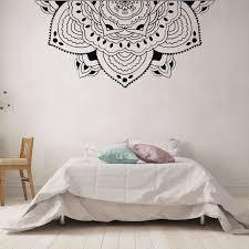 Home Decor Half Mandala Wall Decal Meditation Style Bedroom Wall Mural Half Mandala Car Window Sticker Headboard Decals Ay1437 Wall Stickers Aliexpress