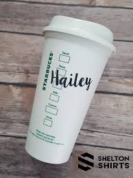 Handwritten Name Vinyl Decal For Starbucks Cup Custom Vinyl Etsy