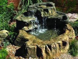 patio backyard fountain interior