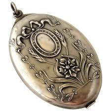 800 silver slide mirror locket pendant