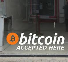 Bitcoin Accepted Here Vinyl Shop Window Sign Decal Sticker Cryptocurrency Small Ebay