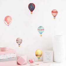 36pcs Macaron Hot Air Balloon Water Color Wall Sticker Color Circle Wall Decals For Kids Room Baby Nursery Decoration Home Decor Wall Stickers Aliexpress