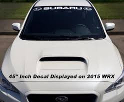 Subaru Windshield Sticker Banner Decal Vinyl Rally Window Graphic Wrx Custom Sti
