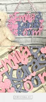 Kids Double Name Plaque For Children Sharing A Bedroom Available In Hearts Or Stars This Plaque Is M Bedroom Door Signs Kids Door Signs Trendy Kids Bedroom