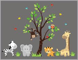 Wall Decals Nursery Kids Room Stickers Zoo Animal Wall Decals Nurserydecals4you
