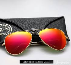 ray ban aviator colored mirror