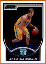 2007-08 Bowman Chrome #142 Adam Haluska RC ROOKIE SERIAL #1045/2999 IOWA  HAWKEYES NEW ORLEANS HORNETS at Amazon's Sports Collectibles Store