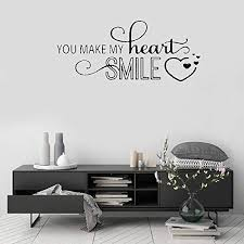 Amazon Com Letters Wall Stickers Home Deocr Mural Wall Decal Art You Make My Heart Smile Home Kitchen