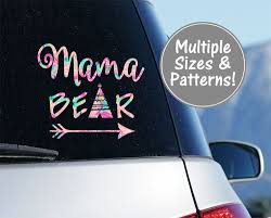 Mama Bear Car Decal Stickers For Car Decals For Moms Etsy Mama Bear Decal Bear Decal Car Decals Stickers